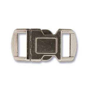 Buckle Clasp 12mm Silver Pack of 4