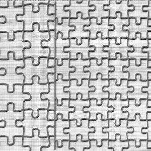 Puzzle Pieces Texture Mat