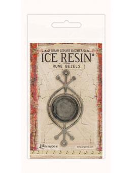 IRB59882 Rune Round Bezel Ant Silver