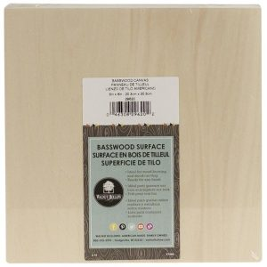 "Basswood Wood Panel 8"" X 8"" WH29620"
