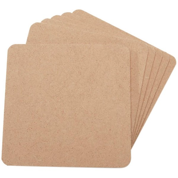MDF Coasters-4X4 Set of 6