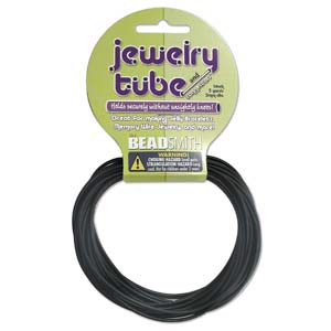 Hollow Rubber Cord 2mm Black 5 yards