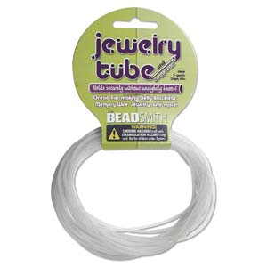Hollow Rubber Cord 2mm Clear 5 Yards