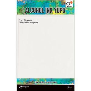 Tim Holtz Yupo Paper-White Heavystock 5X7 10pk