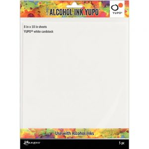 Alcohol Ink Paper-White-8X10 5pk