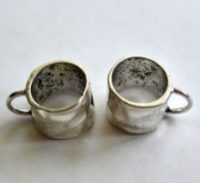 Bail-Pewter Hammered Ring Pack of 4