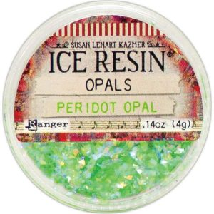 Peridot Ice Resin Opals