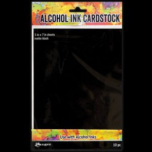 Alcohol Ink Cardstock Matte Black