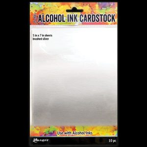Alcohol Ink Cardstock Brushed Silver