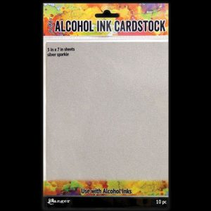 Alcohol Ink Cardstock Sparkle Silver