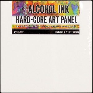 Hard Core Art Panel For Alcohol Ink Squares 4X4