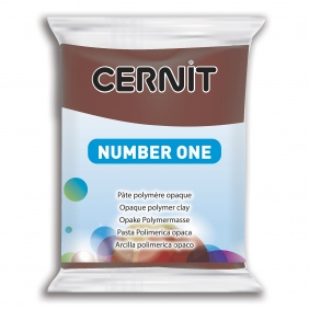 Cernit Polymer Clay Brown 800
