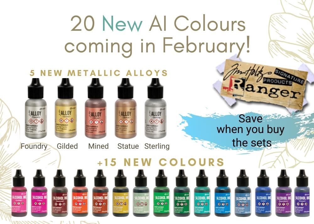 New Tim Holtz Alcohol Ink Colors coming this February