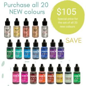 20 New alcohol ink colours by Tim Holtz and Ranger Ink