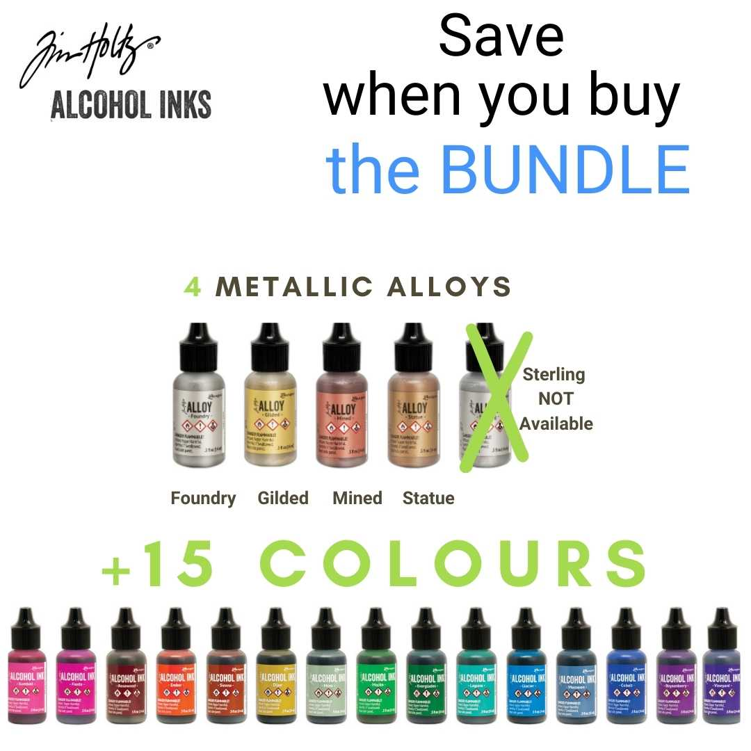 Tim Holtz Alcohol Ink Bundle with 15 + 4 alloys