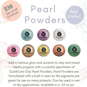 Quick Cure Clay Pearl Powders Set of 8