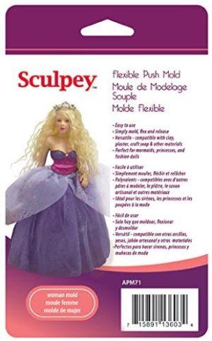 Sculpey Mold Woman Doll