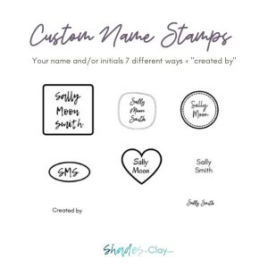 Custom Name Stamps at Shades of Clay