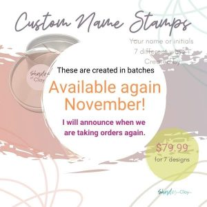 CUSTOM Name Stamps Available Nov