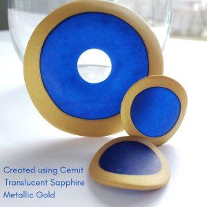 Sapphire Cernit translucent.