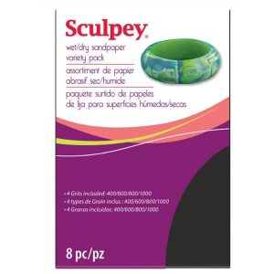 Sculpey Wet/Dry Sandpaper Variety Pack 8pc