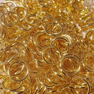 Jump Rings-Gold Tone - 1.0 X 8mm 40g Pack