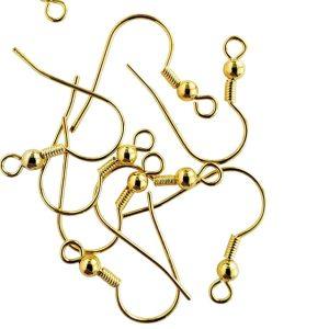 Shepherd Hook Earrings Gold Tone