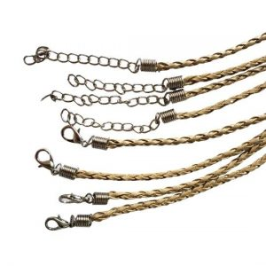 Tan Leather Cord Pack of 10-20 Long