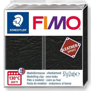 Black Fimo Leather Effect
