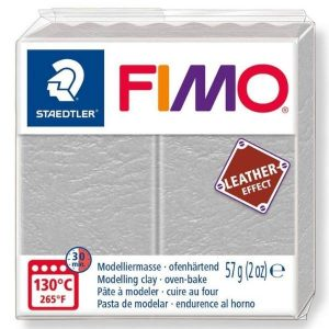 Dove Grey Fimo Leather Effect