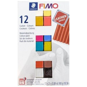 Fimo Leather Effect Sample pack of 12