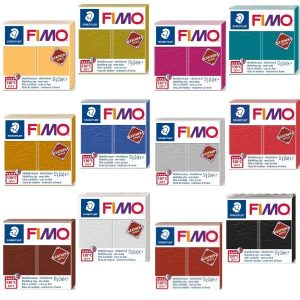 Fimo Leather Effect Polymer Clay 12 Colours