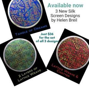 Helen Breil New Silk Screen Designs