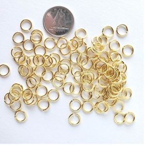 Jump Rings - Gold Tone 7mm 144 pcs