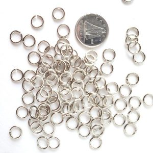 Jump Rings - Silver 5mm 144 pcs