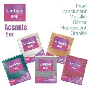 Premo Sculpey Polymer Clay Accents 2 oz