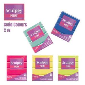 Premo Sculpey Polymer Clay 2 oz (Solid Colours)