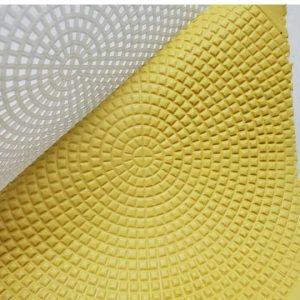 Circular Grid Texture Mat