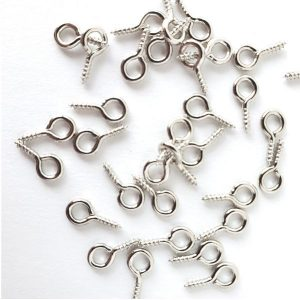 Screw Eyes Silver 1cm 144 pcs