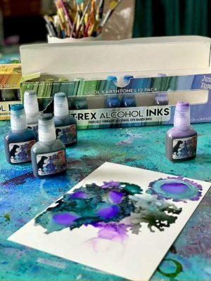 T-Rex Cool Colours Alcohol Inks set of 12