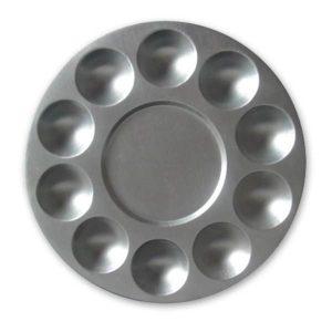 """Metal Palette 10 wells 7"""" Round"""